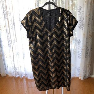 H&M Gold and Black Sequin Dress